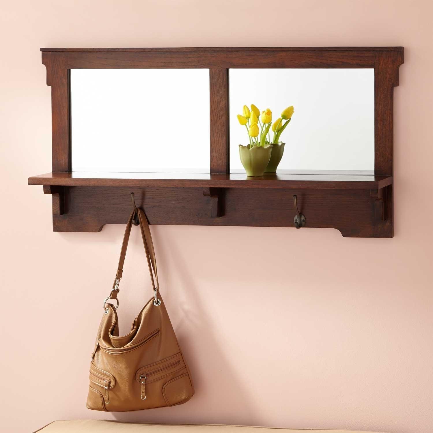 Mission Style Oak Entryway Mirror Hardware