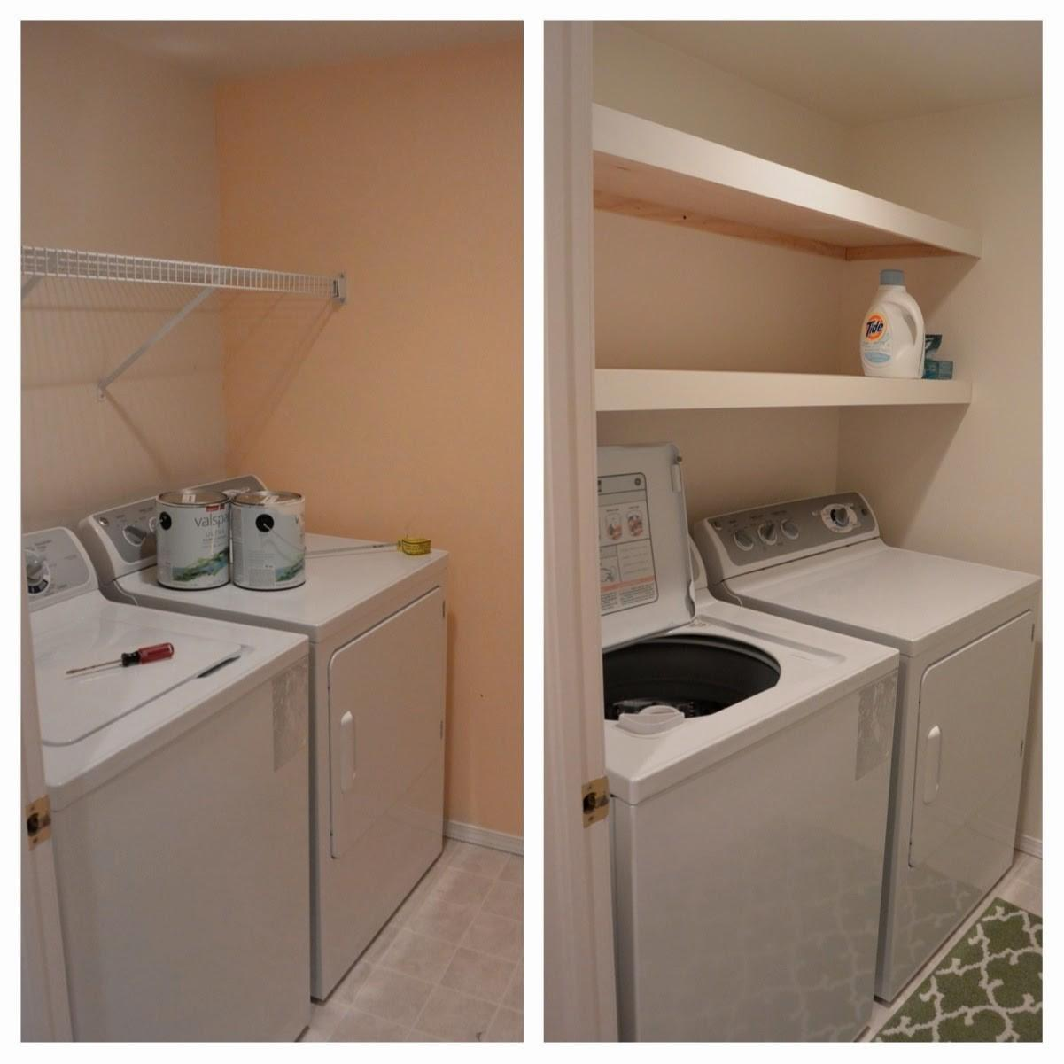 Mixin Mom Laundry Room Floating Shelves Diy