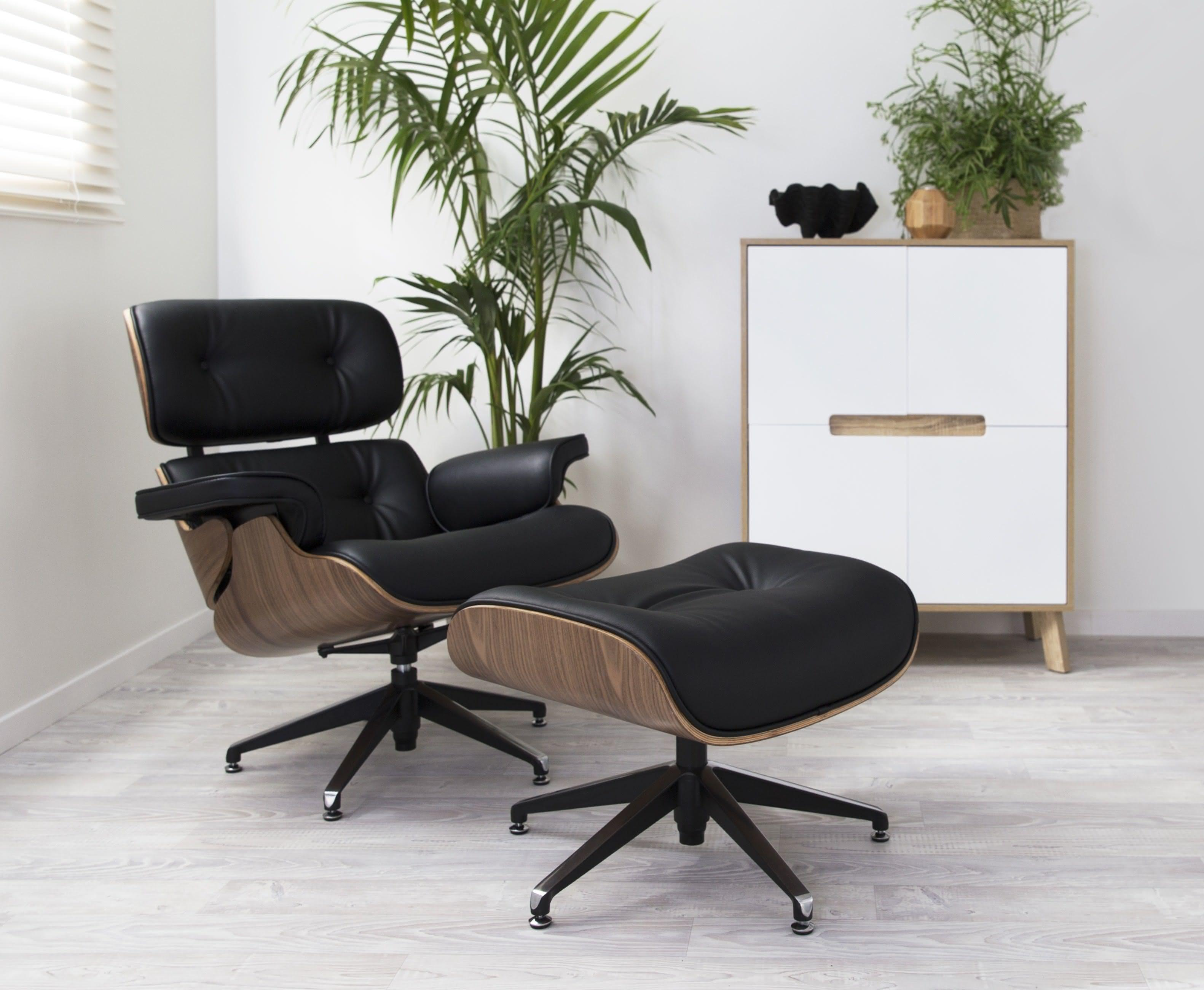 Mocka Eames Replica Lounge Chair Ottoman Home Furniture