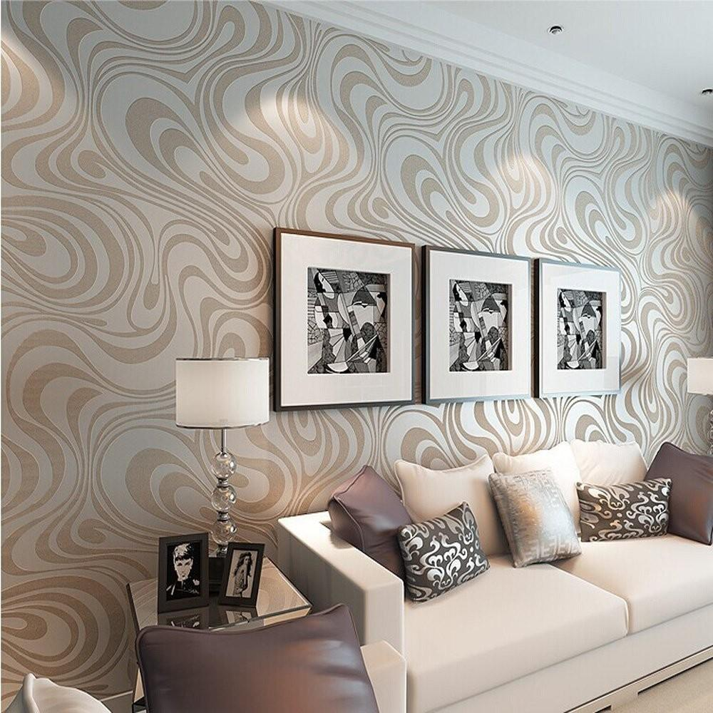 Mod Retro Chic Metallic Wavy Trends Home Decor