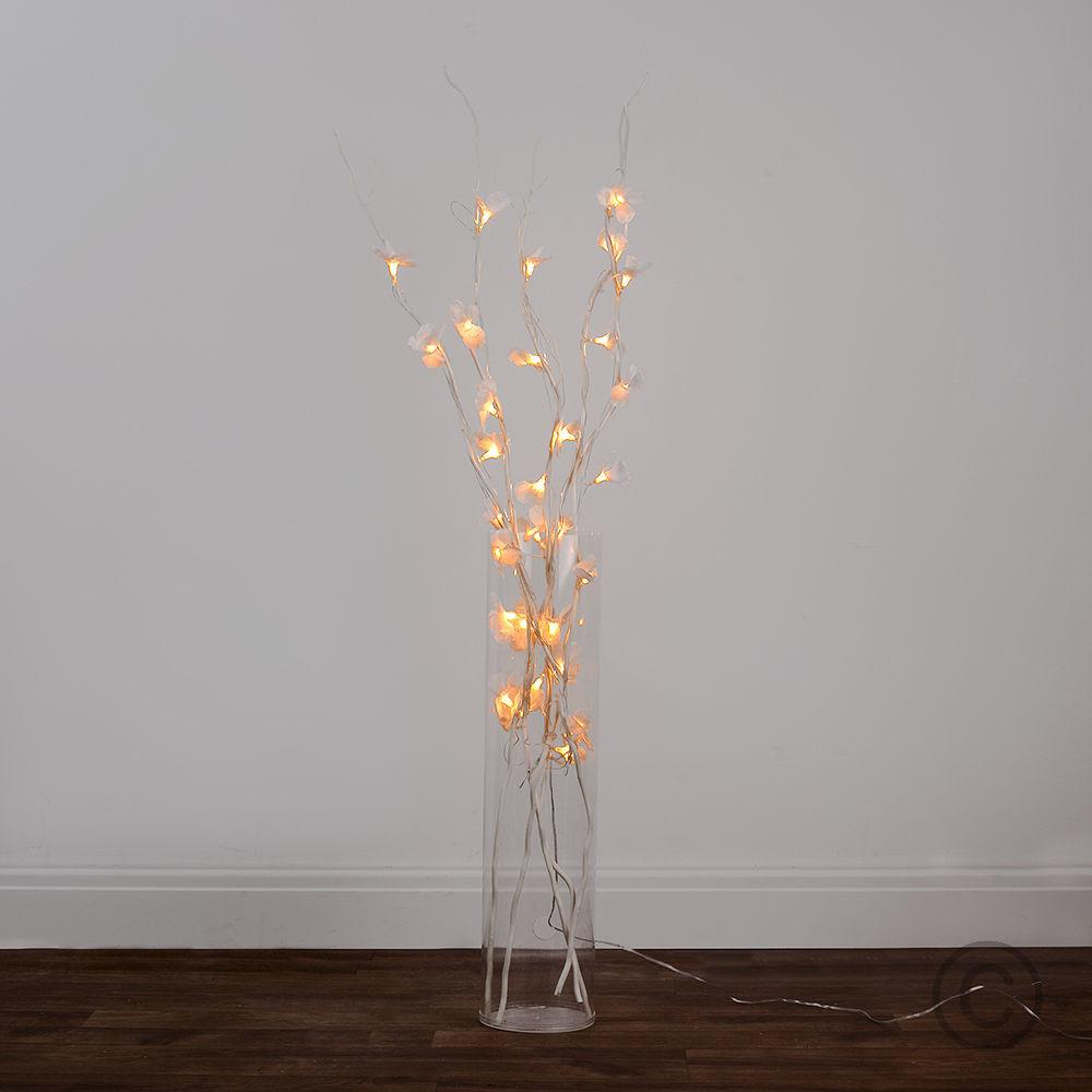 Modern 120cm Warm White Led Twig Fairy Lights Flowers