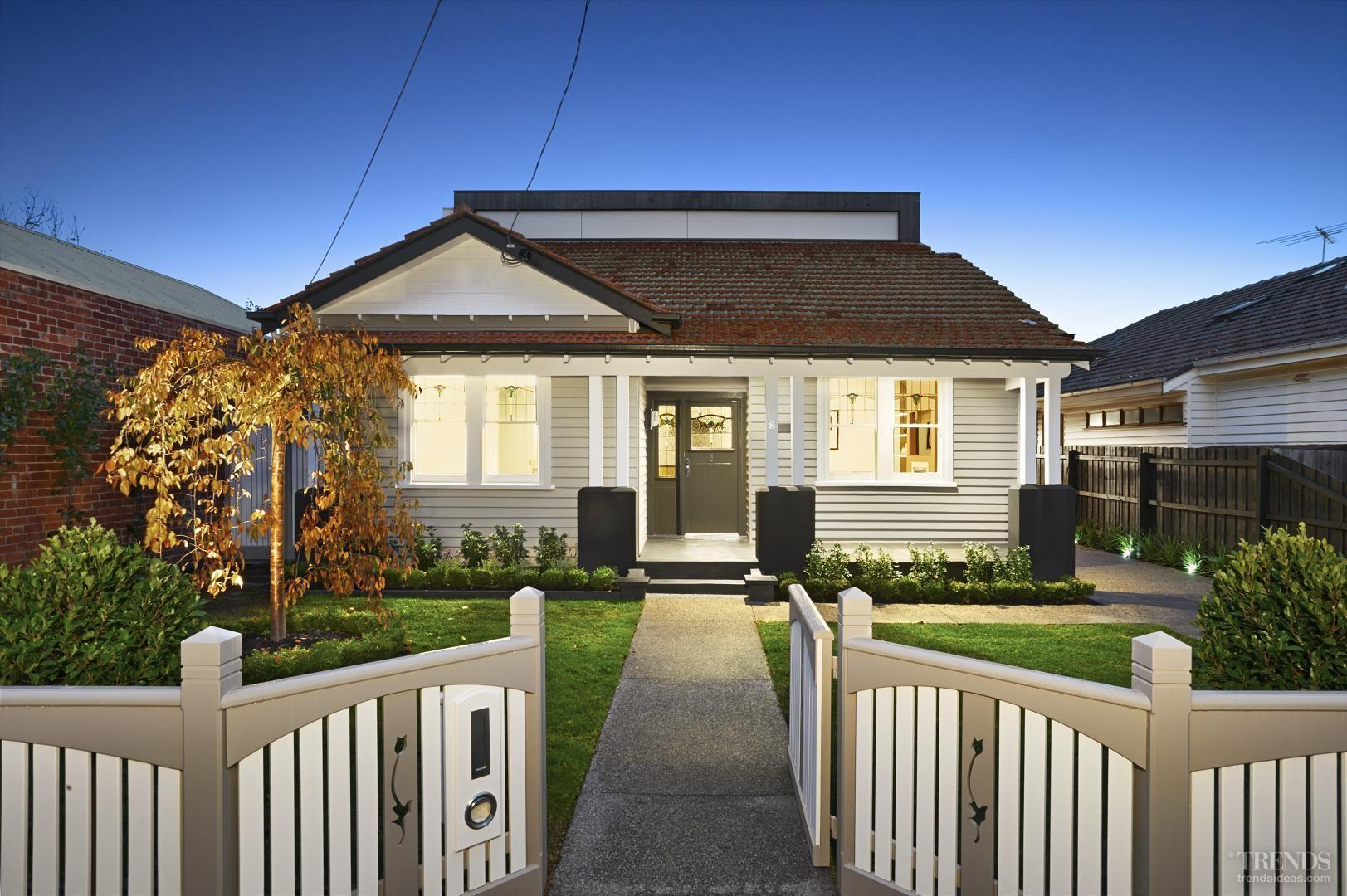 Modern Addition Traditional California Bungalow