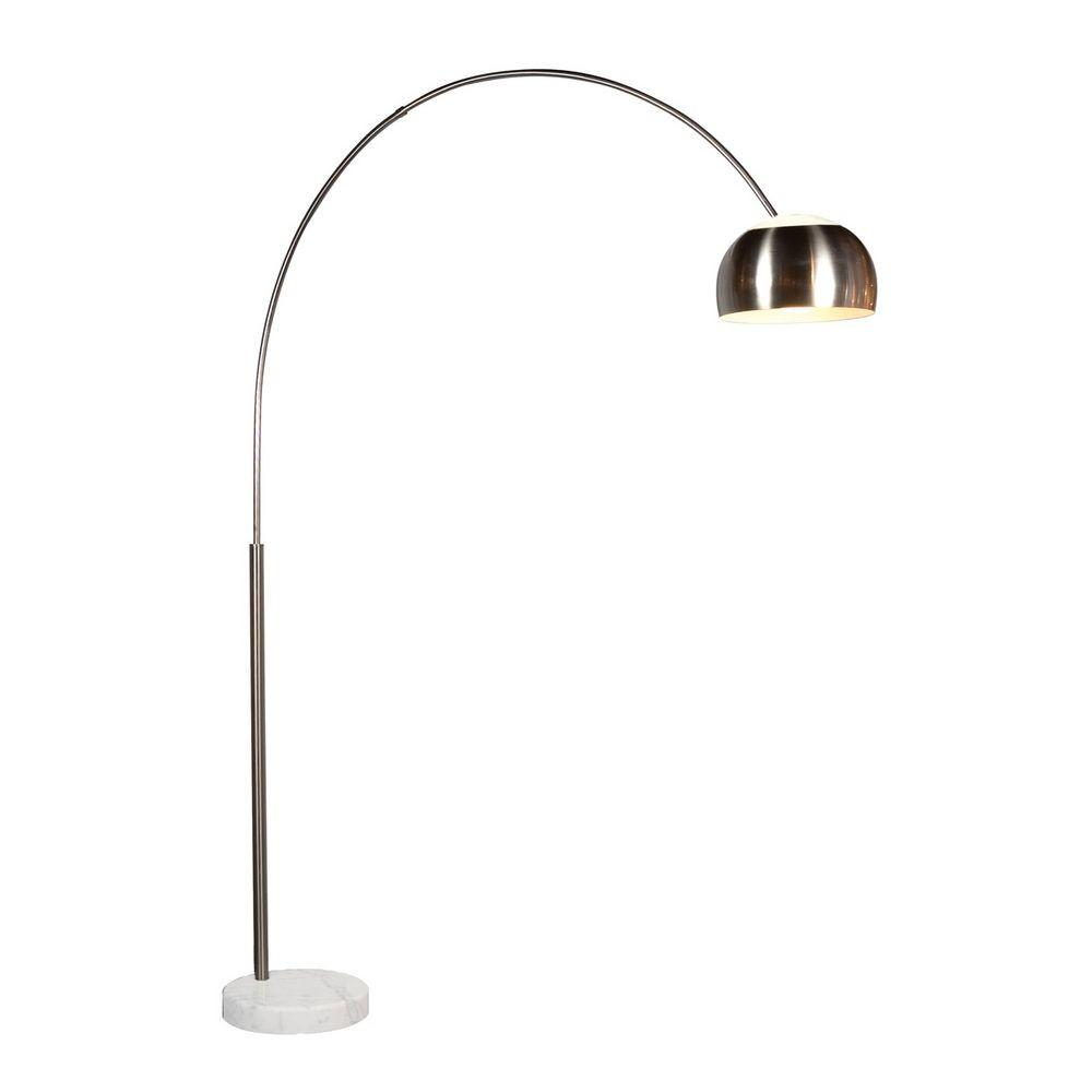 Modern Arc Lamp Satin Nickel Finish 4096 13g