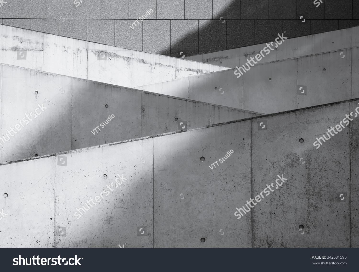 Modern Architecture Details Structure Concrete Wall Stock
