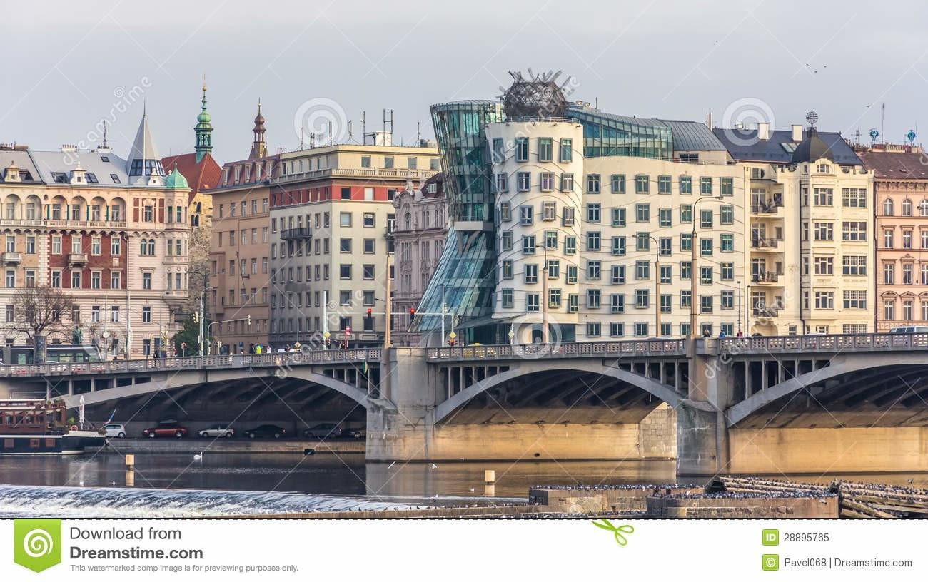 Modern Architecture House Prague Royalty Stock