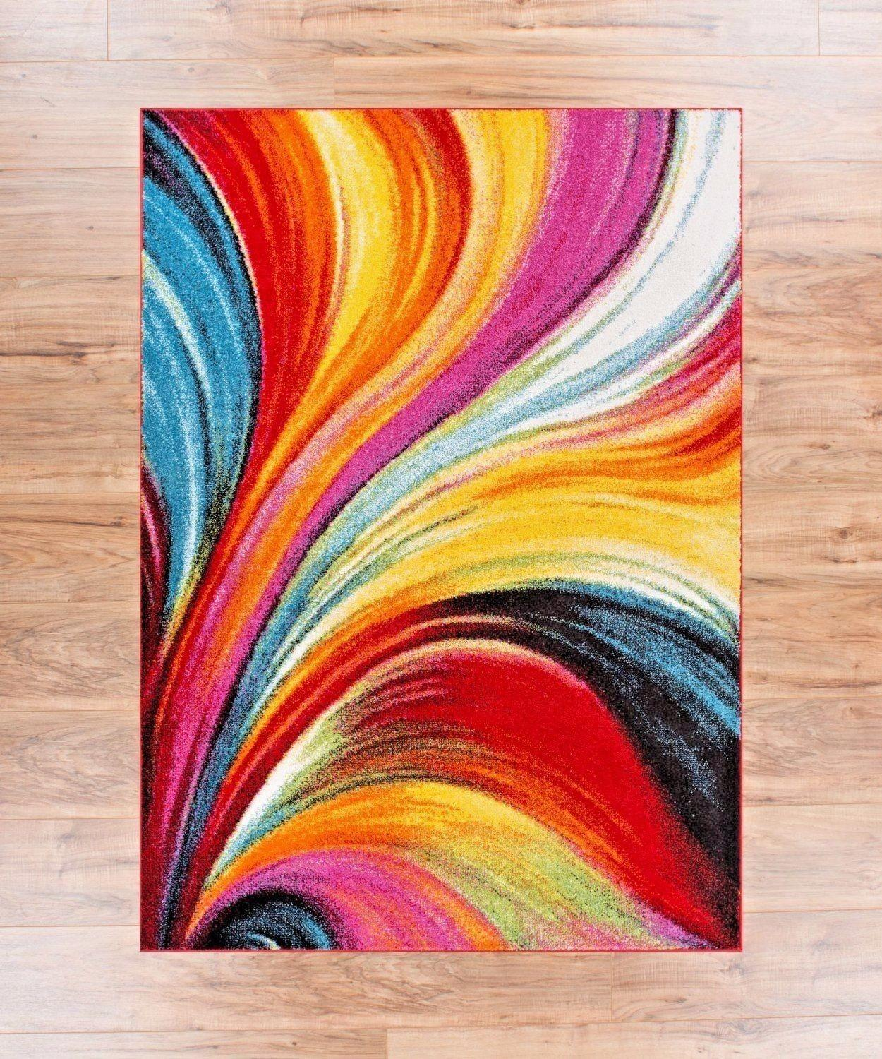 Modern Area Rug Color Mix Bell Rugs