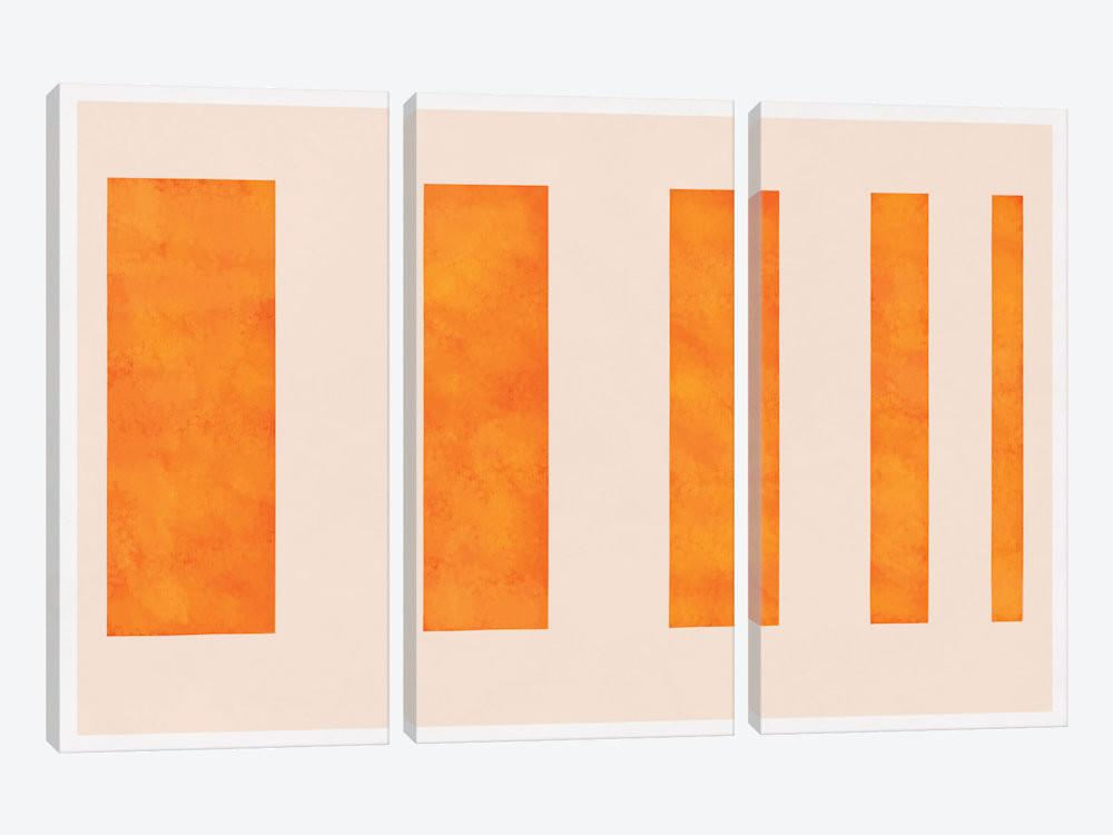 Modern Art Orange Levies Canvas Print