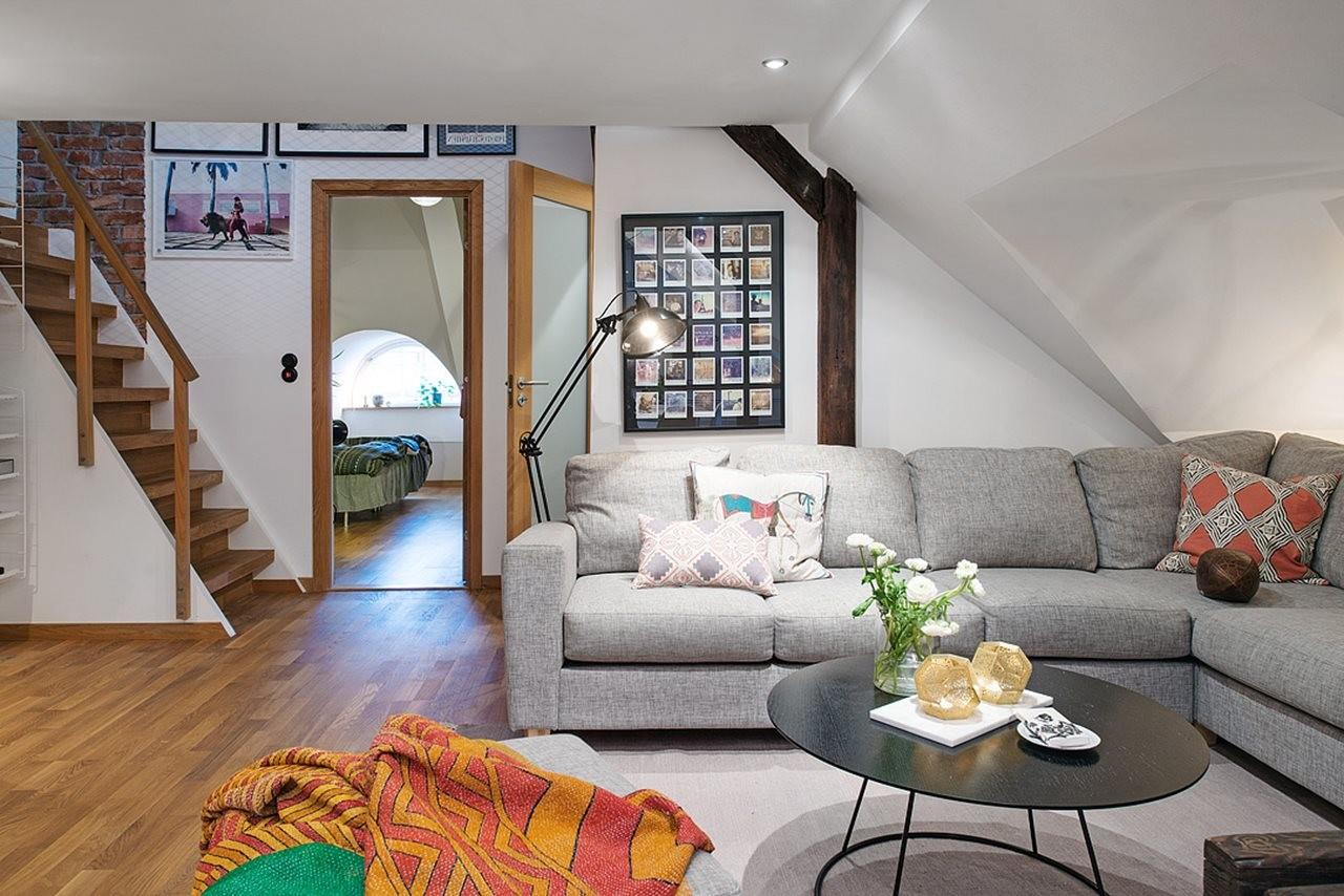 Modern Attic Apartment Scandinavian Style