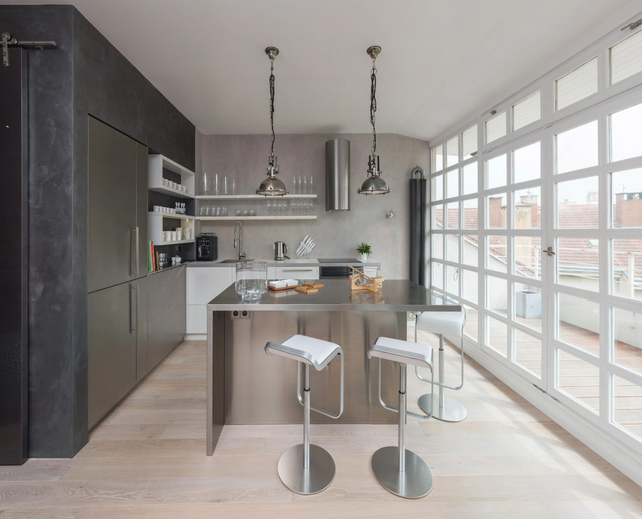 Modern Attic Loft Grey Palette Prague