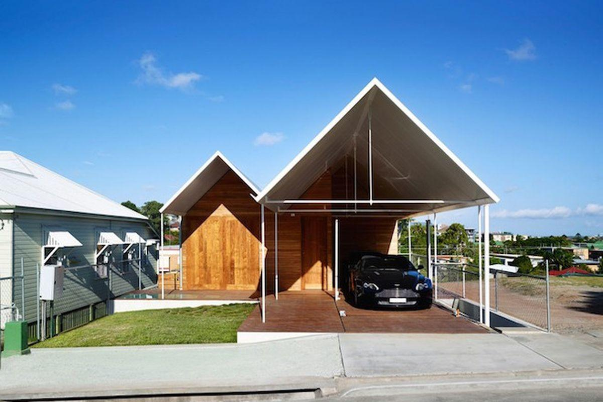 Modern Australian Home Goes Double Gable All Way Curbed