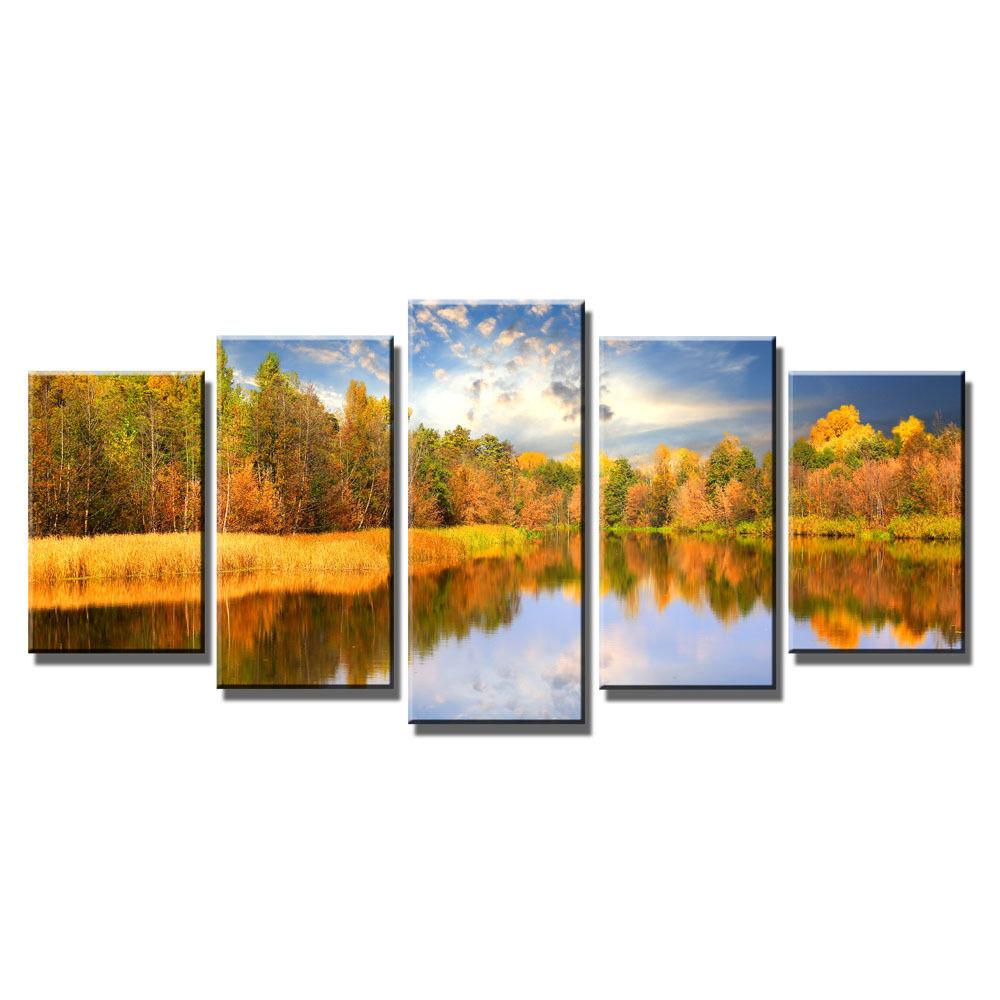 Modern Autumn Landscape Art Canvas Prints Home Wall