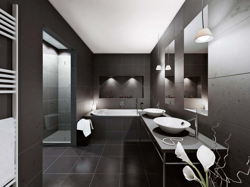 Modern Bathroom Decorated Black Ideas