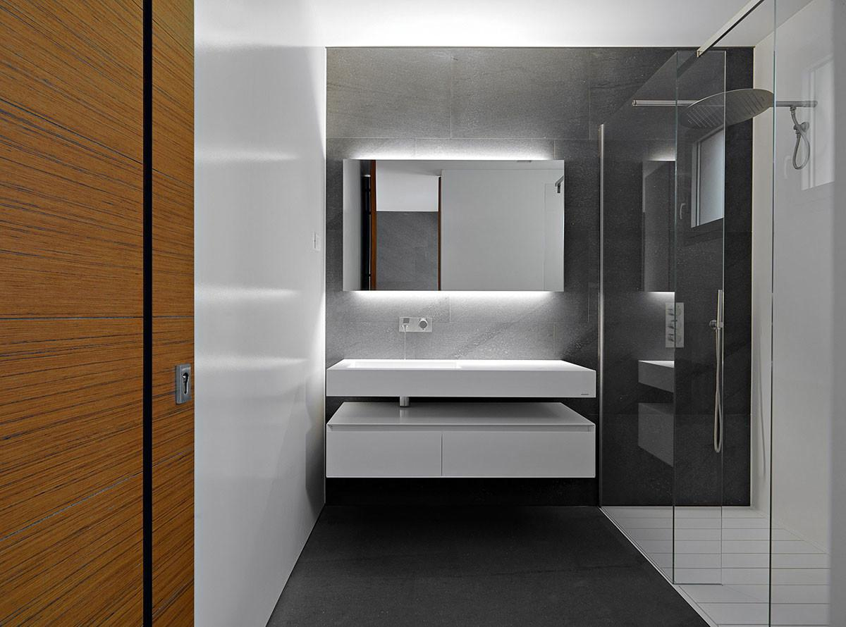 Modern Bathroom Glass Shower Minimalist Home Lugano
