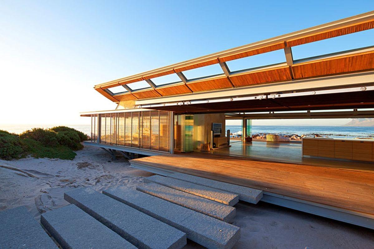 Modern Beach House Opens Sea All Sides Curbed