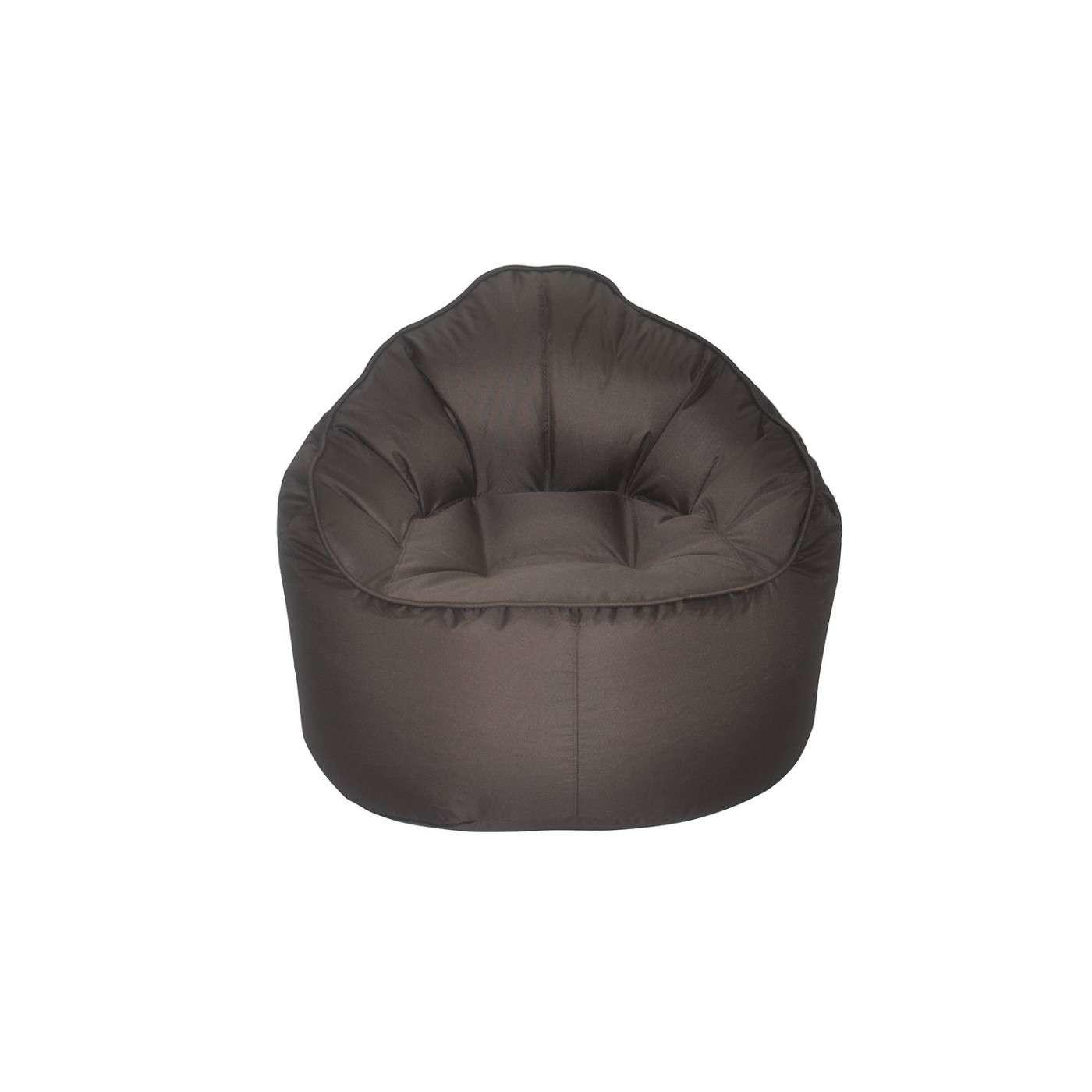 Modern Bean Bag Giant Pod Brown Chair