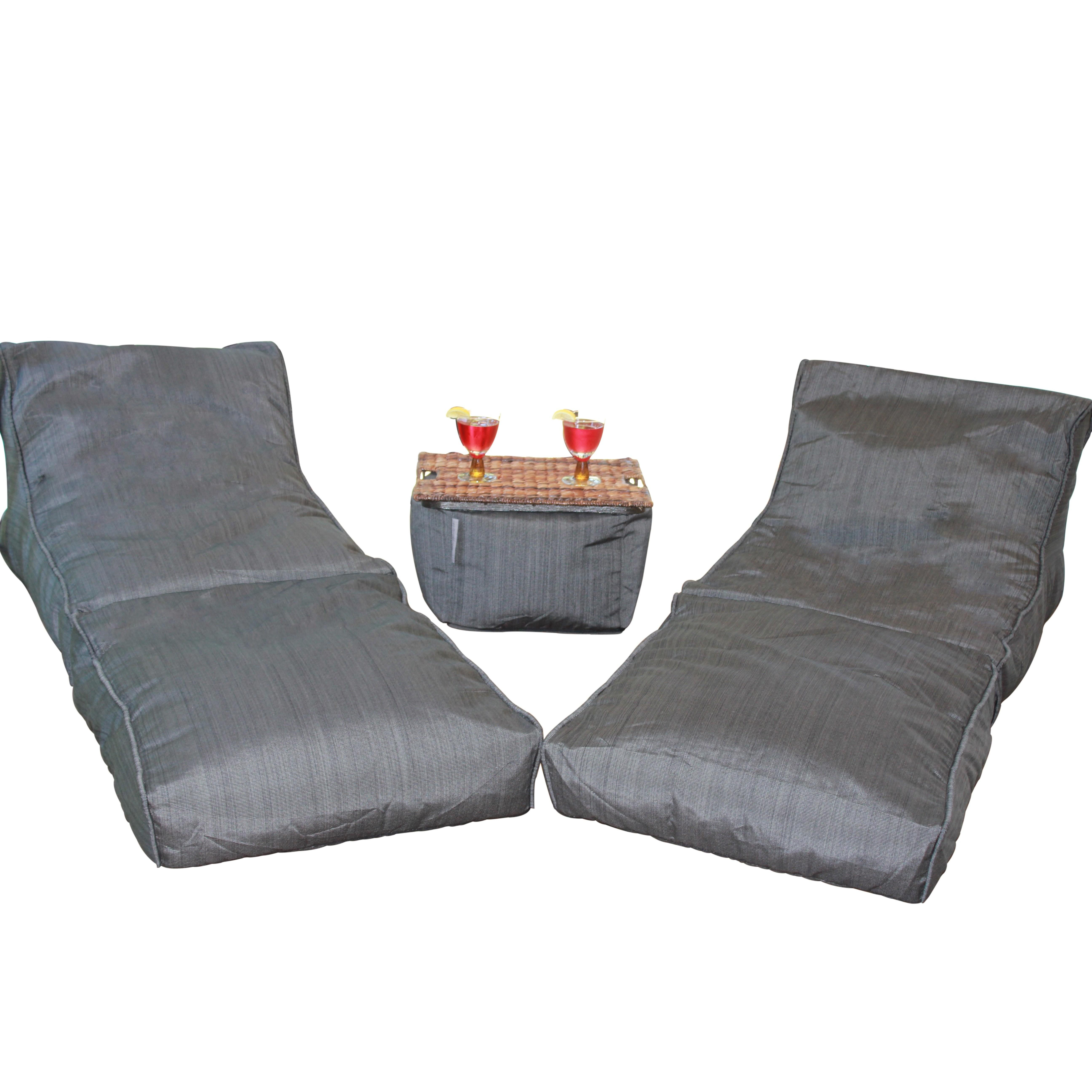 Modern Bean Bag Noir Set