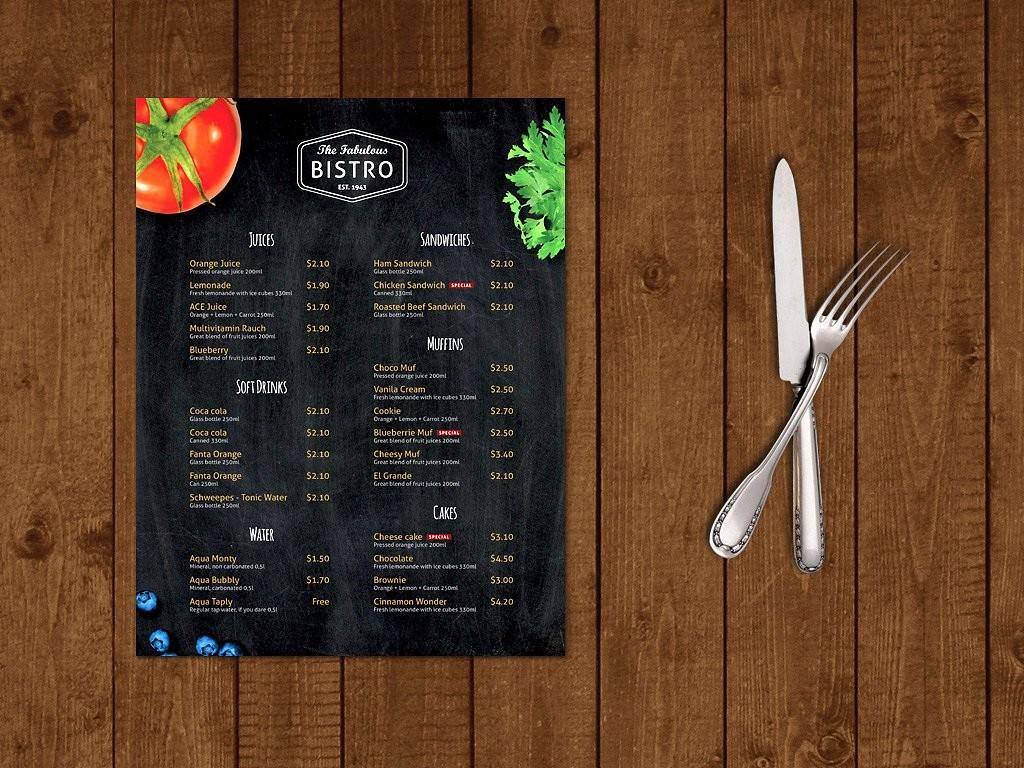 Modern Bistro Cafe Menu Template Brochure Templates