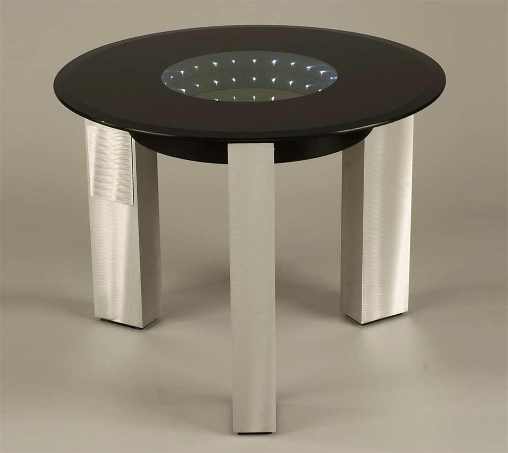 Modern Black Glass End Table Nl143 Contemporary
