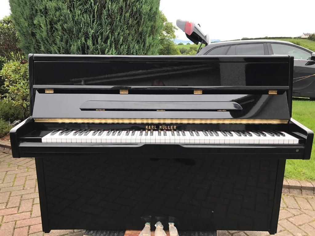 Modern Black Upright Piano Belfast Pianos Delivery