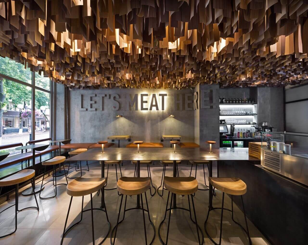 Modern Cafe Interior Design Concepts Elegant Look
