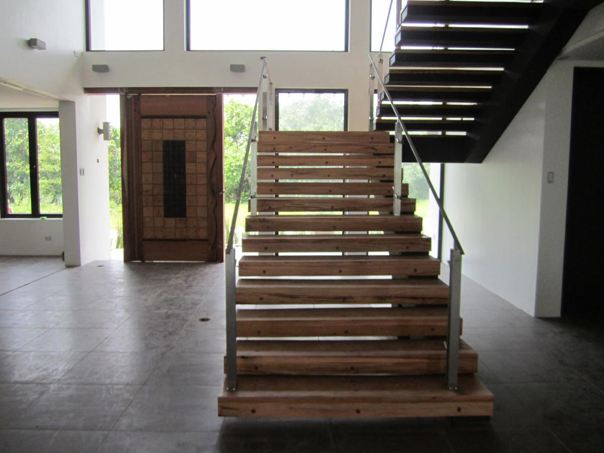 Modern Cantilever Staircase Steel Wood Eugene