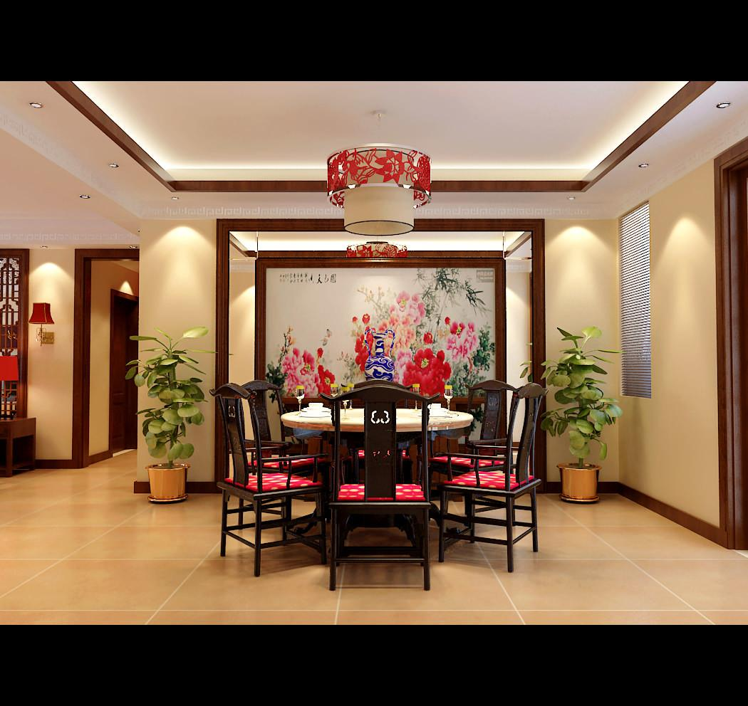 Modern Chinese Style Dining Room Fully Fur Model