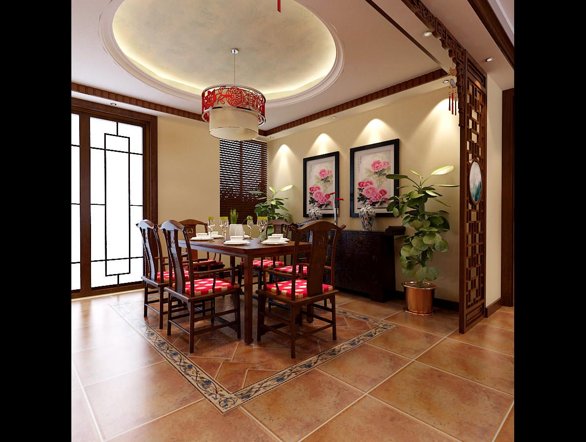 Modern Chinese Style Dining Room Fully Furnished