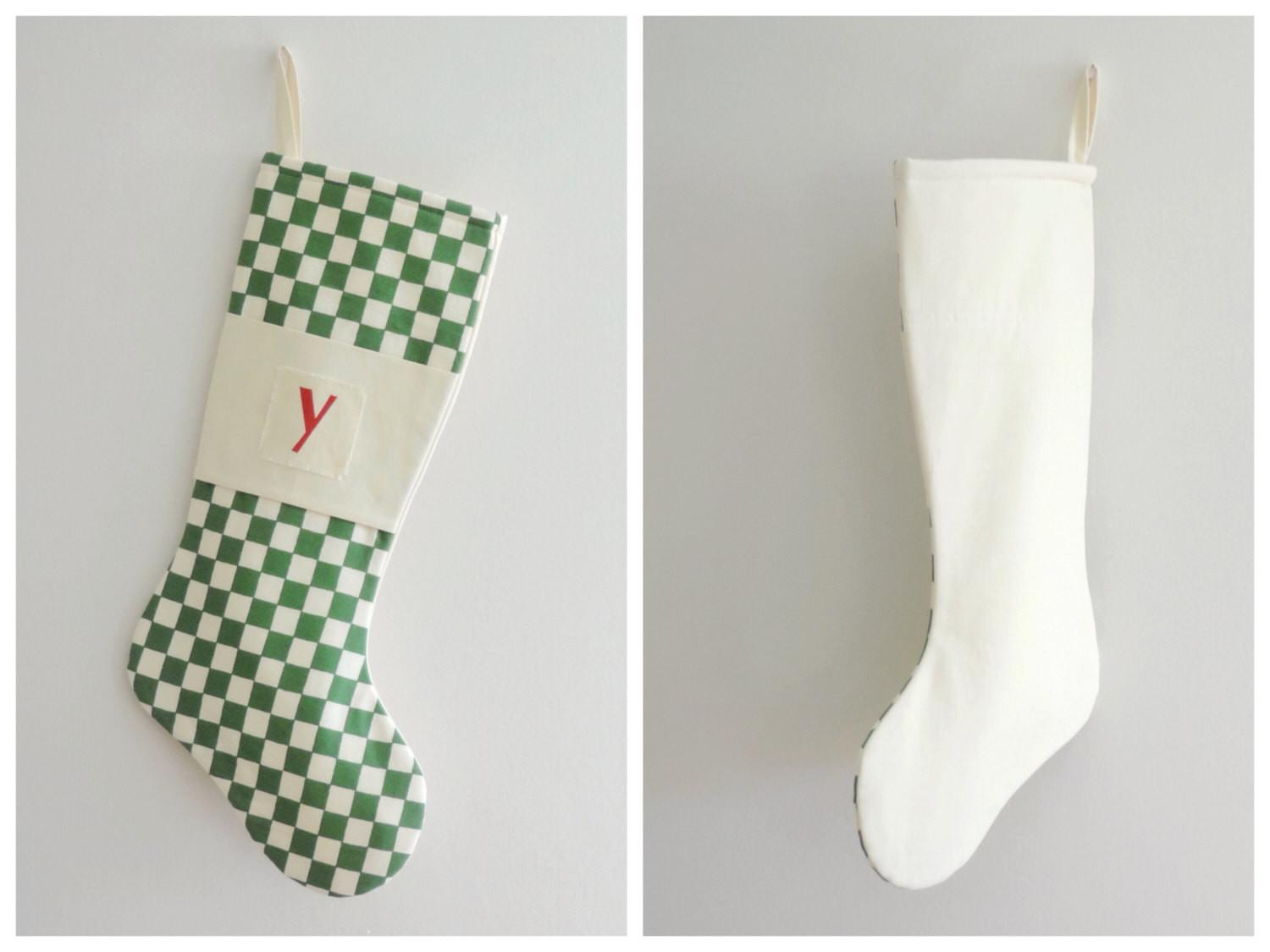 Modern Christmas Stocking Personalized Goodwishesquilts