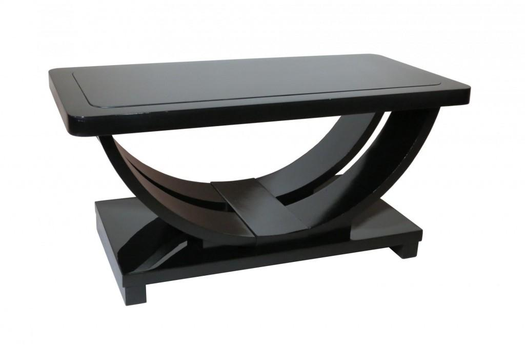 Modern Coffee Tables Chic Black Table