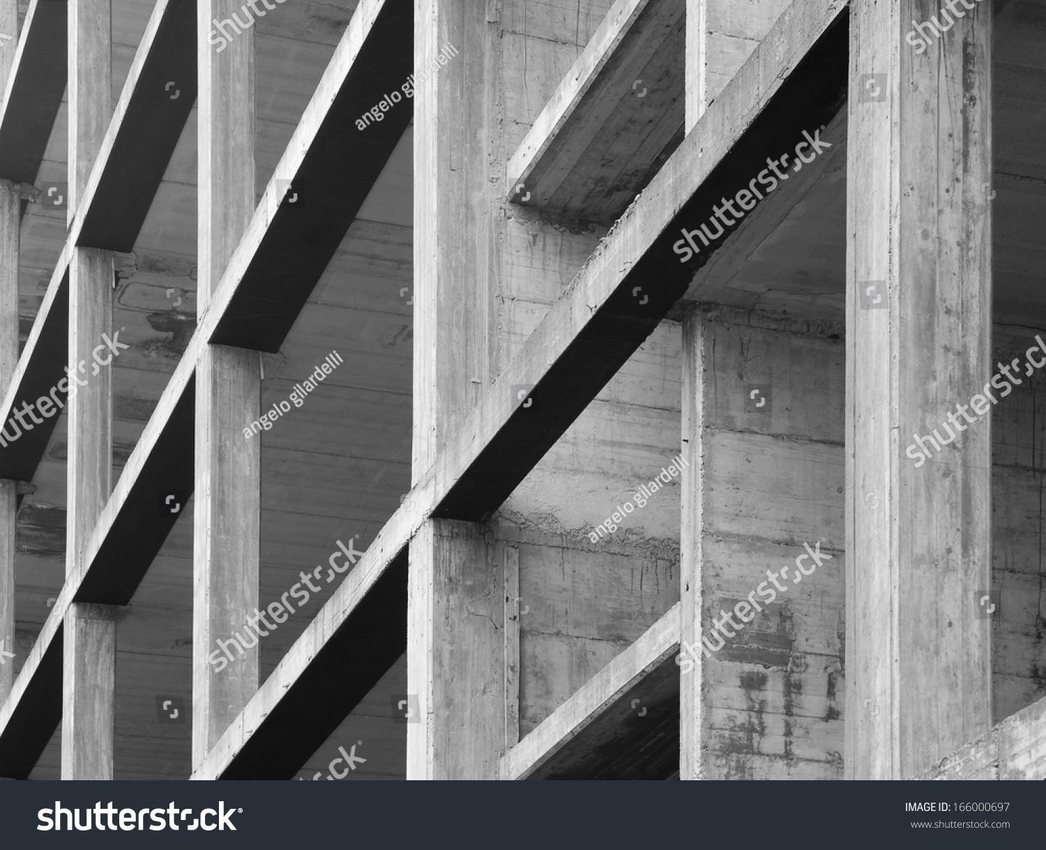 Modern Concrete Structure Building Under Construction
