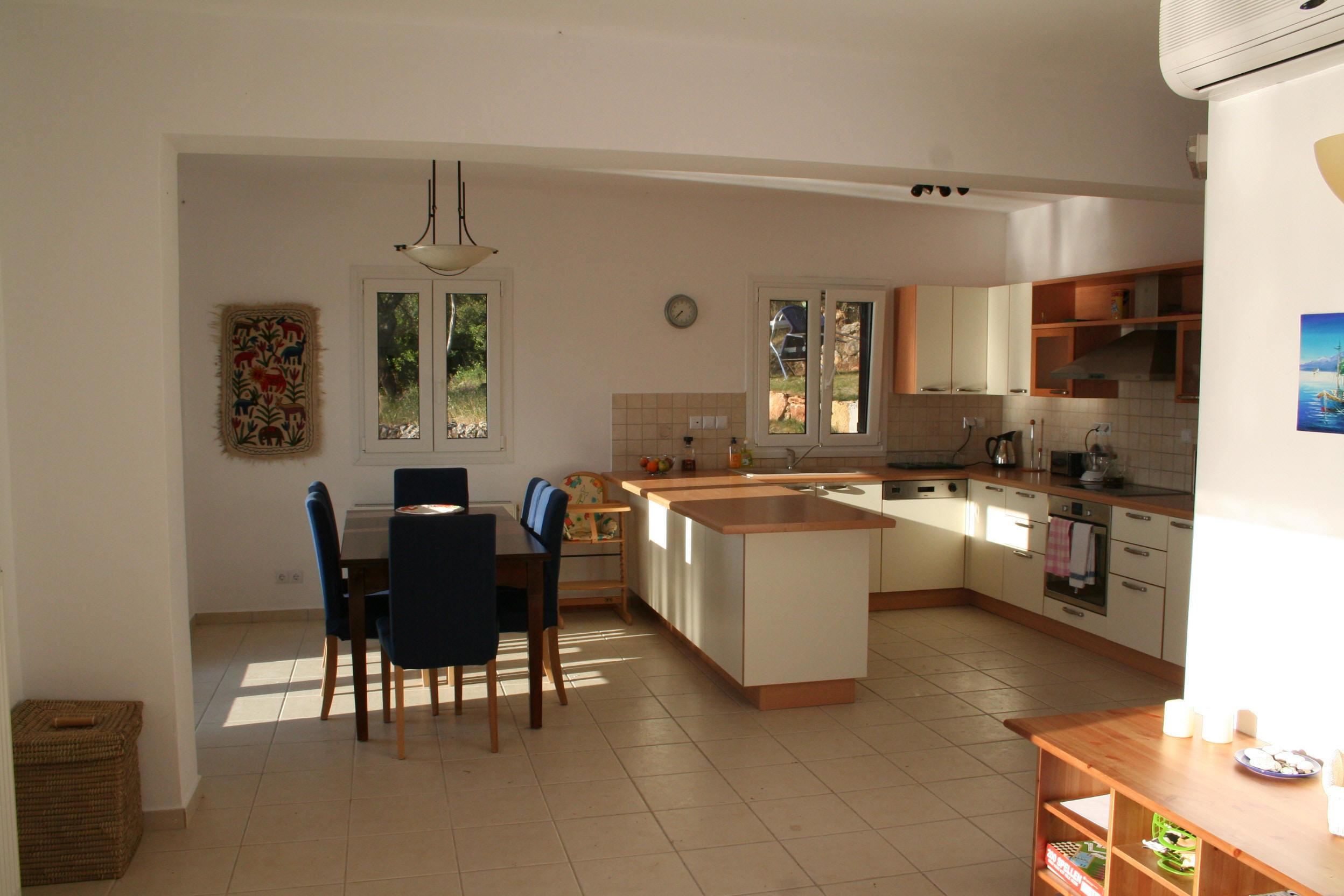 Modern Contemporary Open Plan Kitchen Living Dining Room