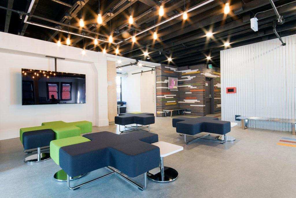 Modern Coworking Space Goes Futuristic Home