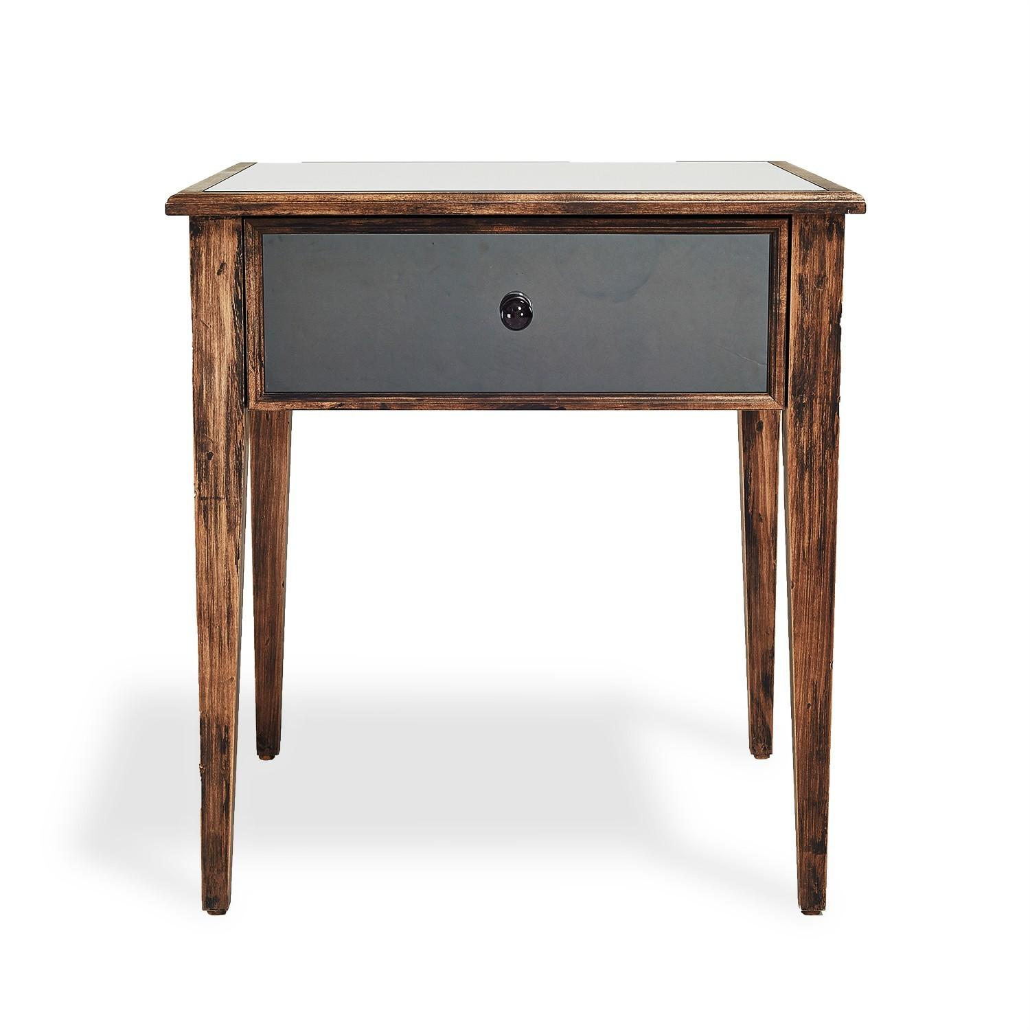 Modern Design Mirrored Nightstands Home Decorations Insight