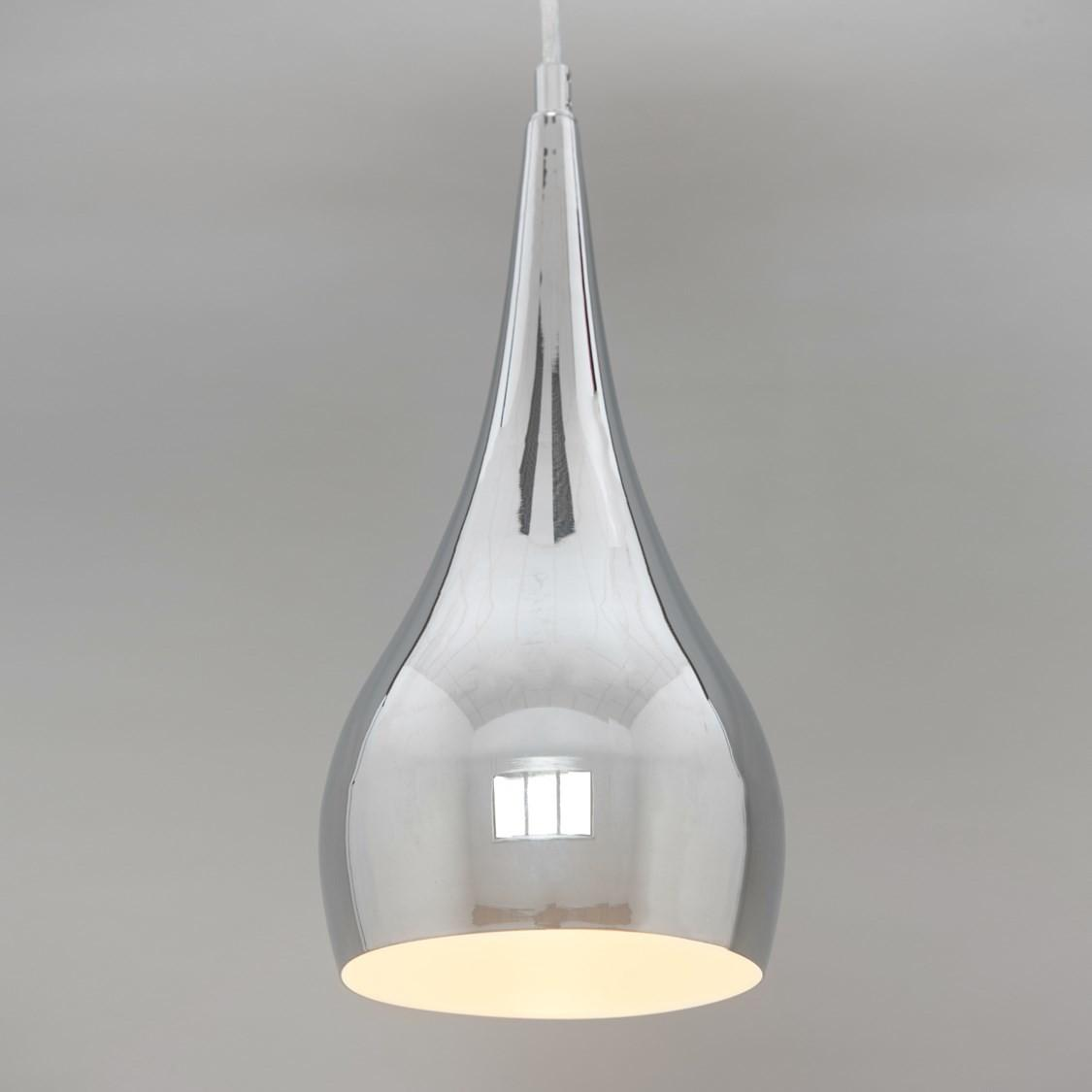 Modern Designer Teardrop Ceiling Pendant Light Chrome 16cm