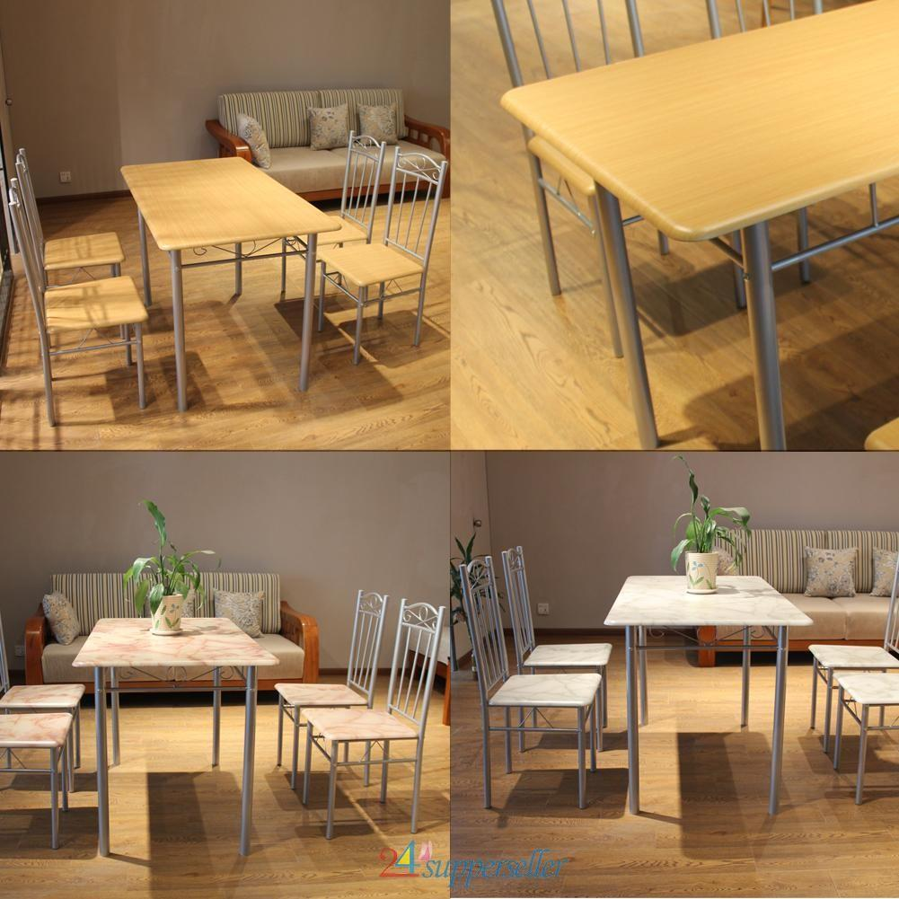 Modern Dining Room Kitchen Table Chairs Set Seater