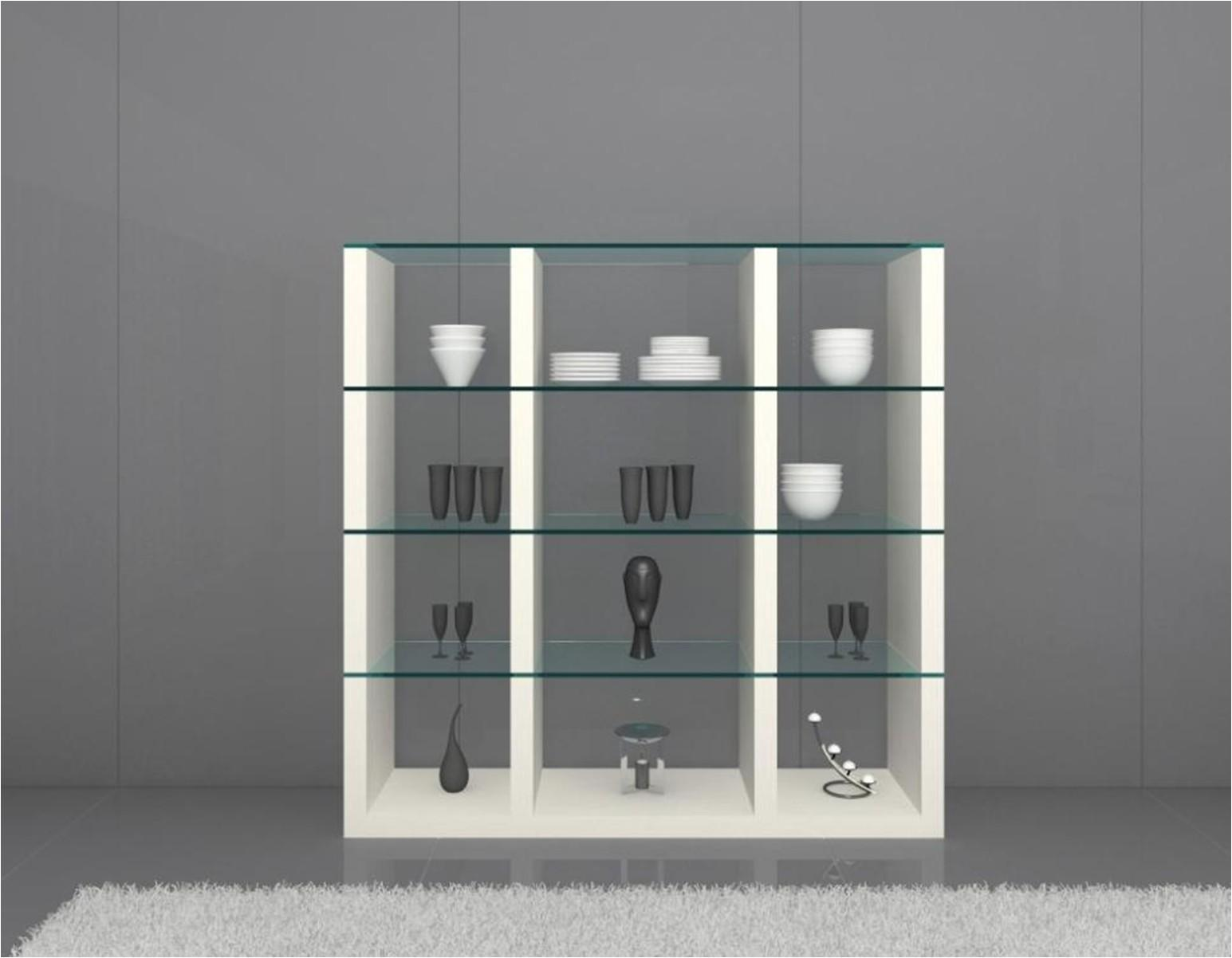 Modern Display Cabinet Tempered Glass