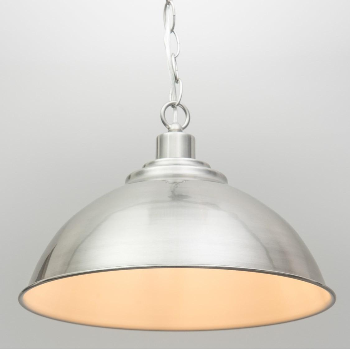 Modern Dome Shape Designer Pendant Ceiling Light Brushed