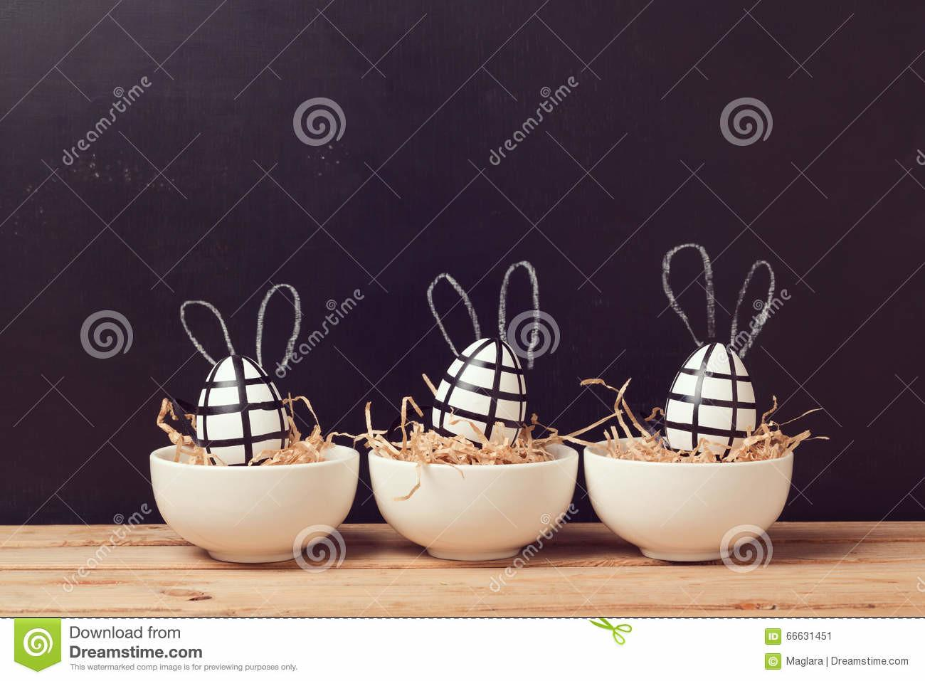 Modern Easter Egg Decorations Bunny Ears