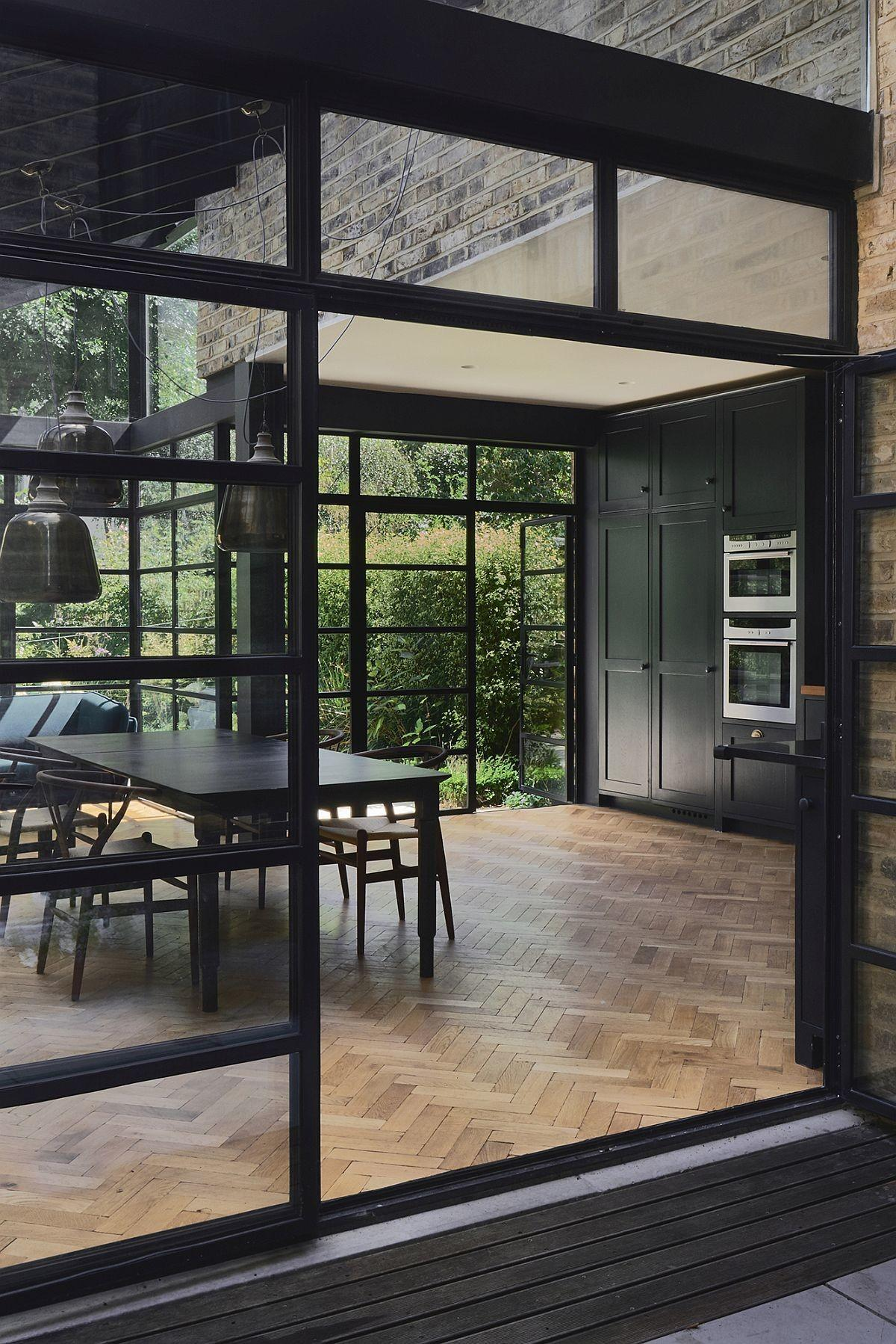 Modern Extension Using Crittall Windows Refreshes