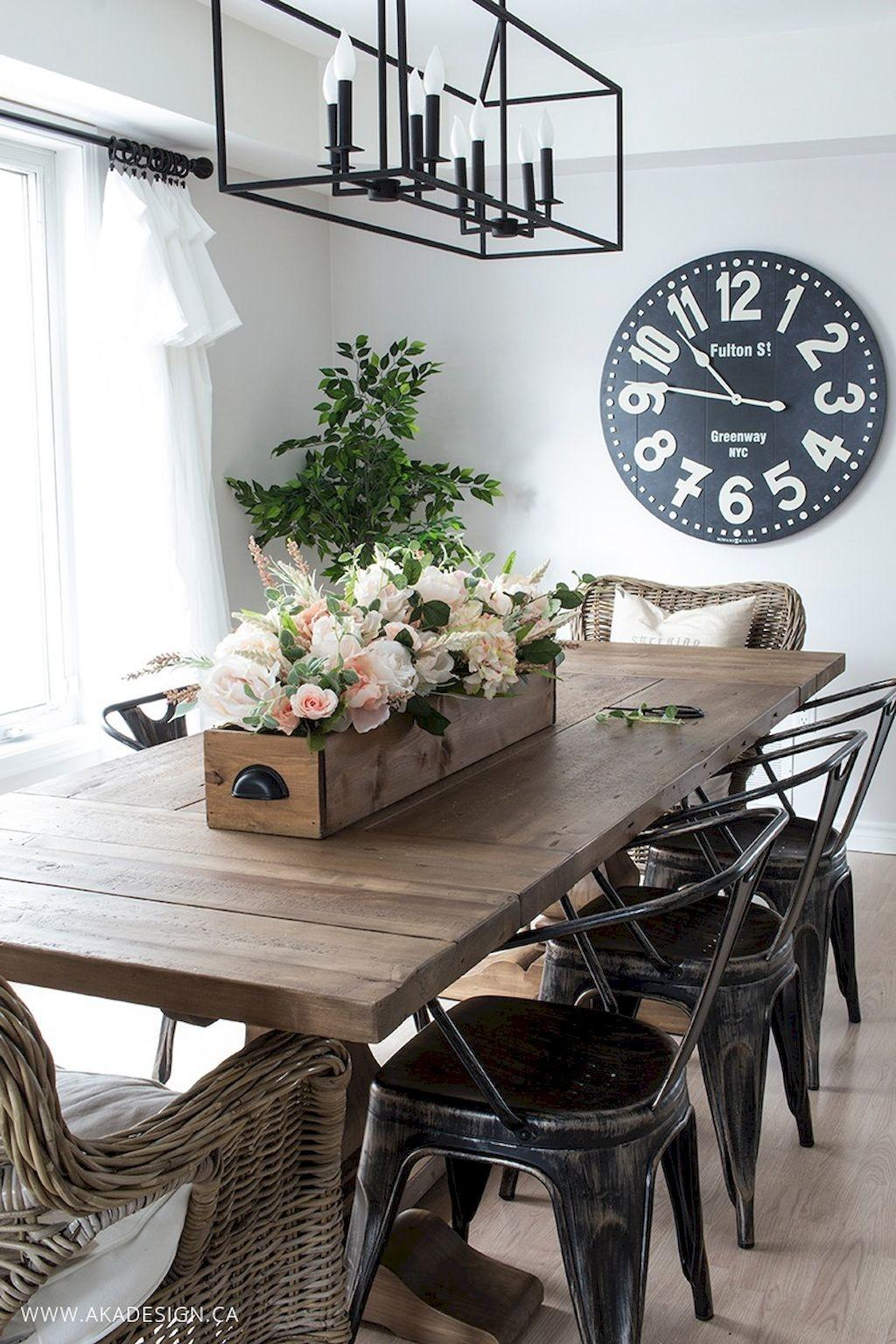 Modern Farmhouse Dining Room Decorating Ideas