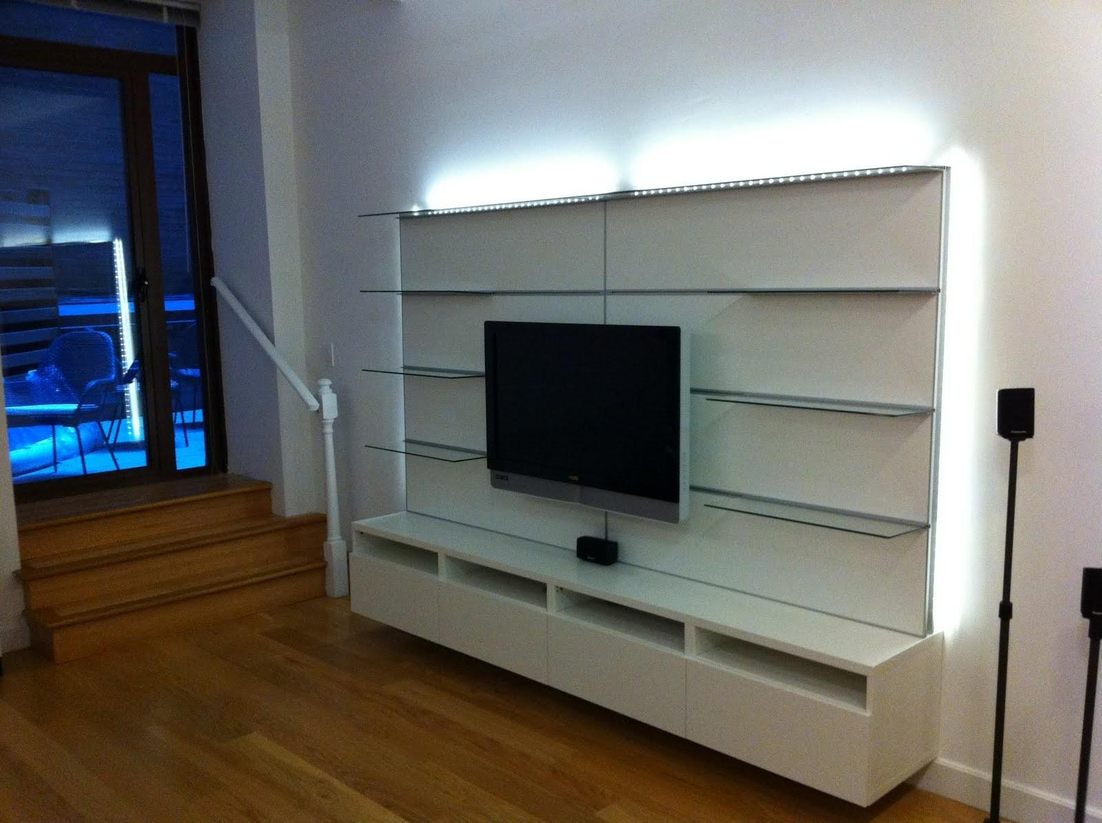Modern Floating Media Cabinet Bar