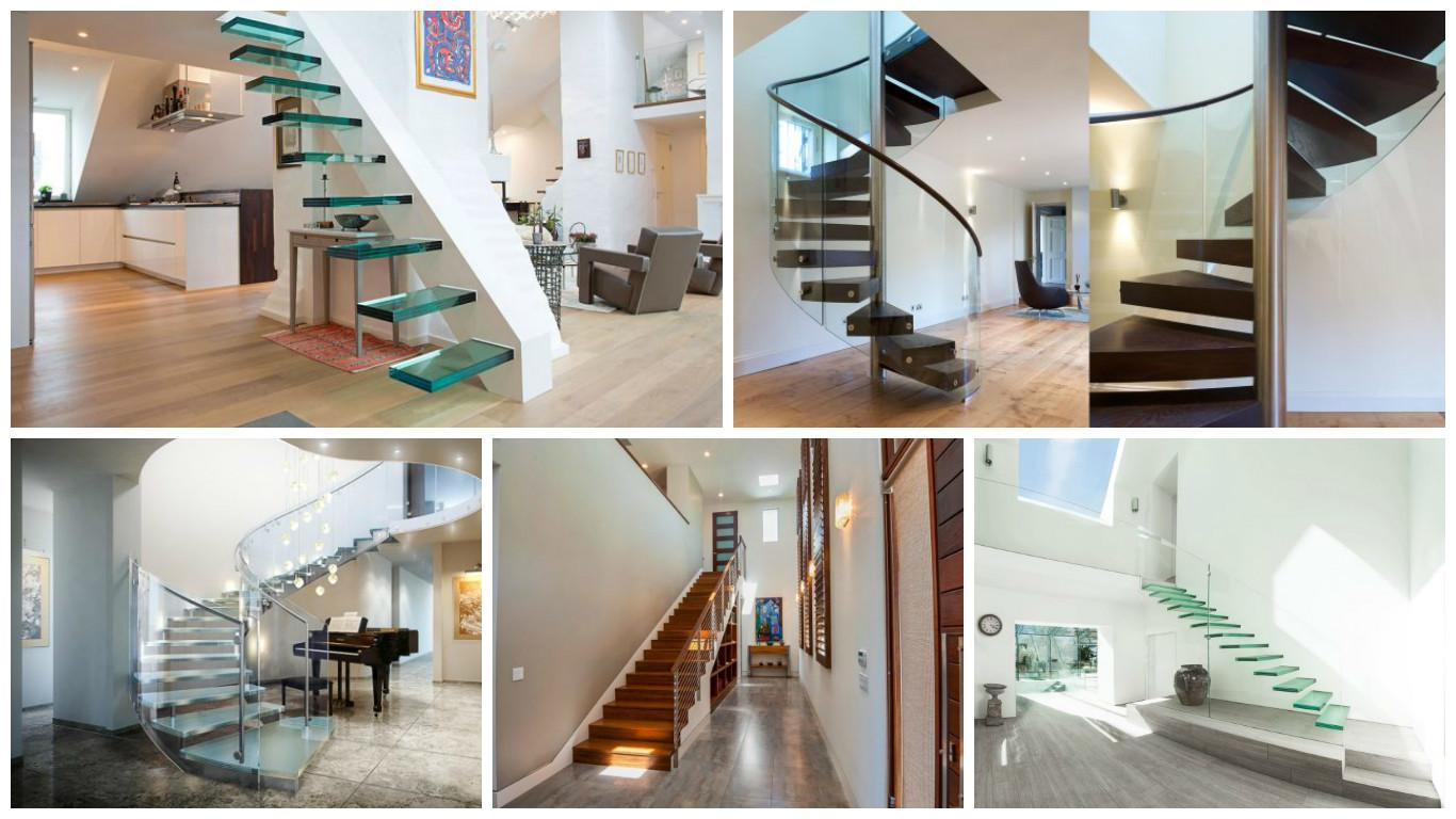 Modern Floating Staircases Steal Show Top