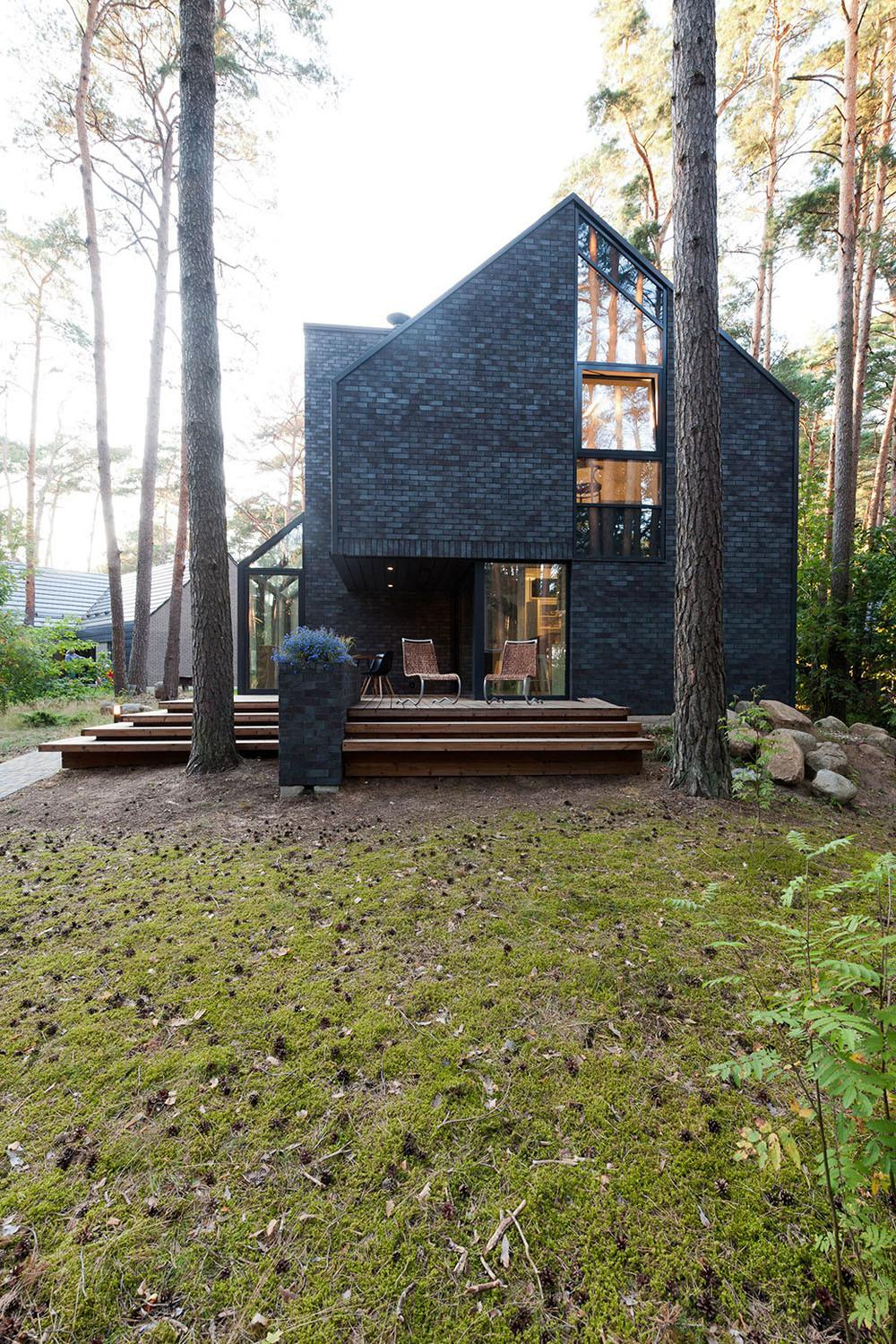 Modern Forest House Dedicated Blues Music Black