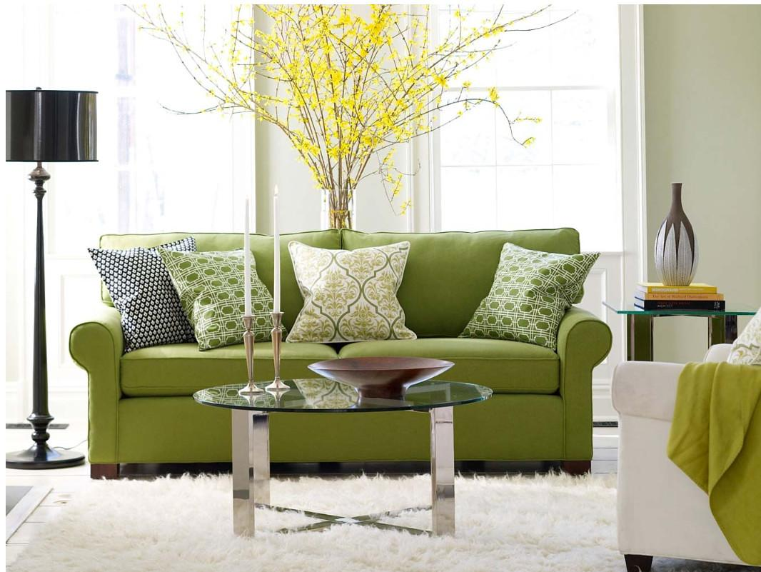 Modern Furniture Green Living Room Design Ideas 2011
