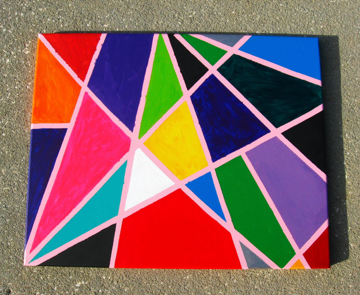 Modern Geometric Art Multicolored Abstract Painting Canvas