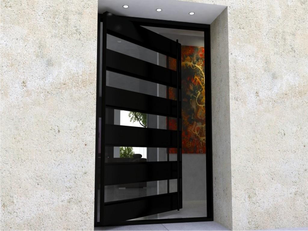Modern Glass Front Door Pivot