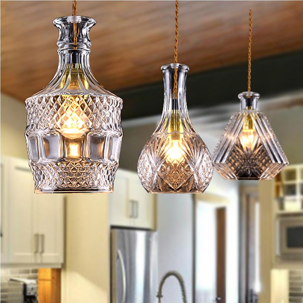 Modern Glass Hand Blown Bottle Lighting Chandelier Pendant