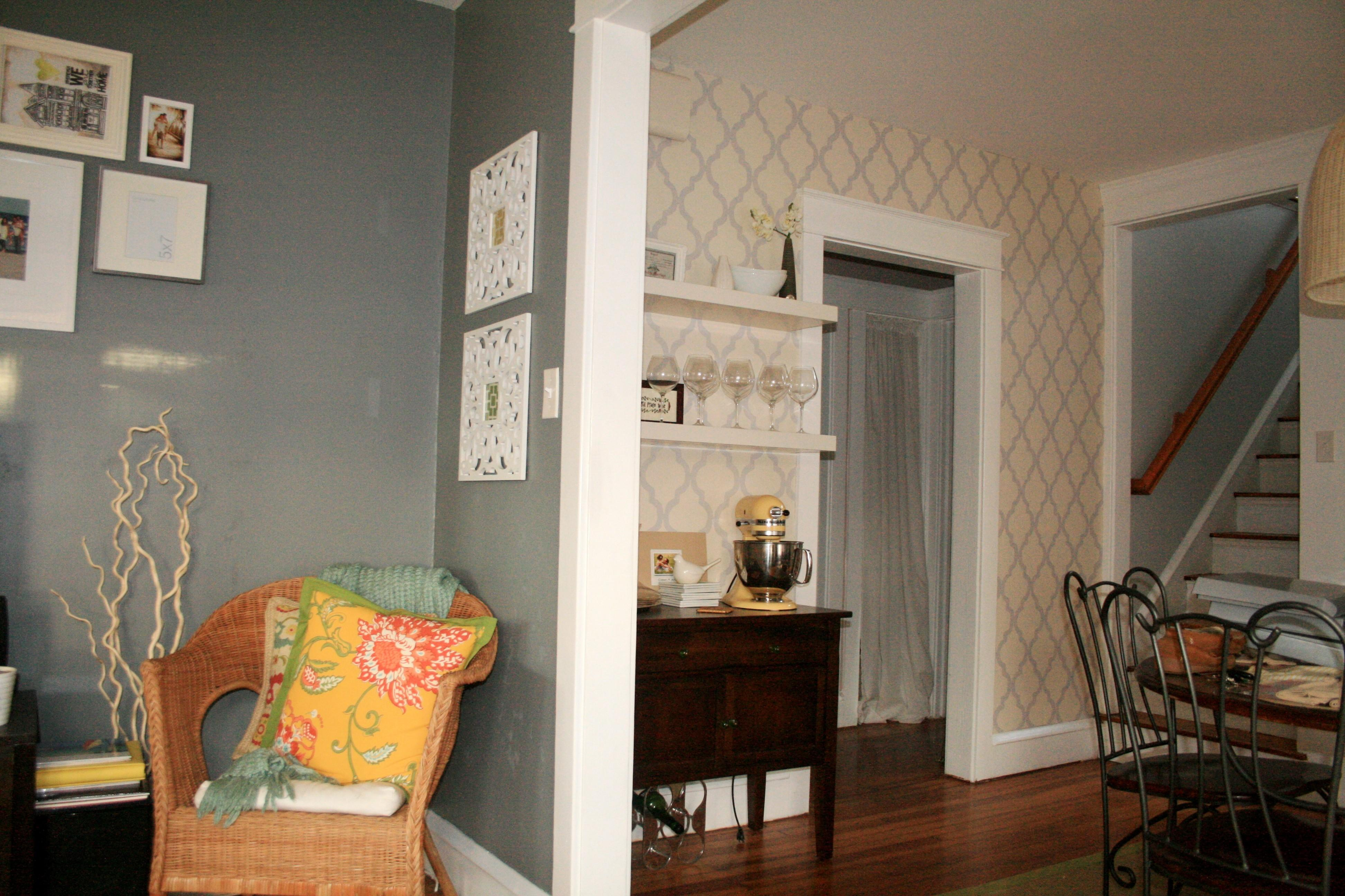 Modern Home Gray Bedroom Paint Color Wooden Laminate