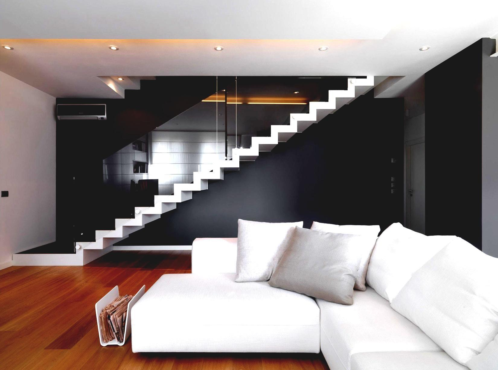 Modern Home Interior Design Living Room Stairs