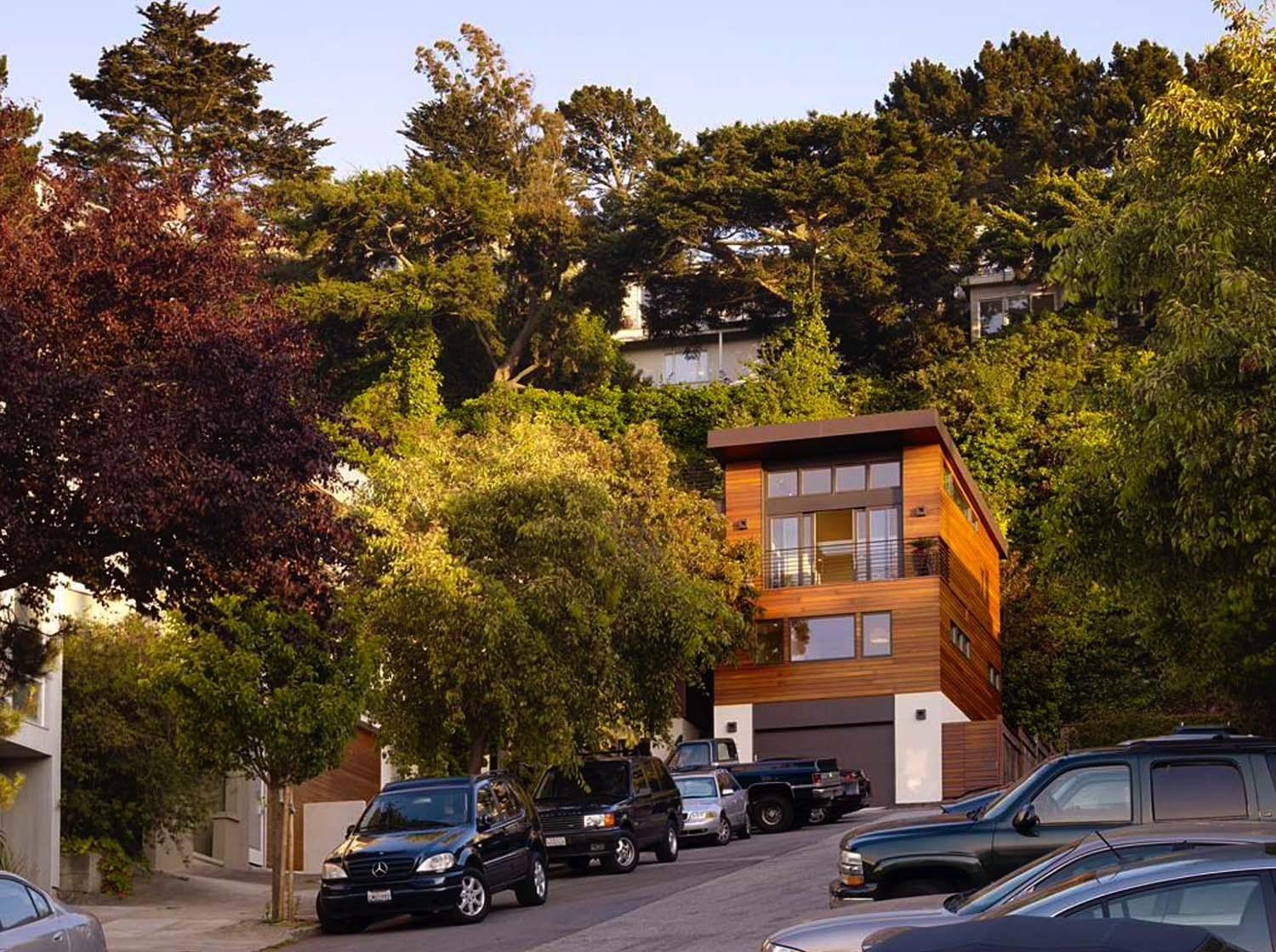 Modern Home Nestled Into Hillside Cole Valley